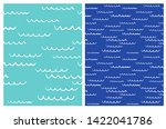 cute abstract hand drawn waves... | Shutterstock .eps vector #1422041786