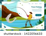 vector illustration   fisherman ... | Shutterstock .eps vector #1422056633