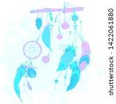 neon dream catcher with... | Shutterstock .eps vector #1422061880