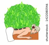 woman lying for spa massage | Shutterstock . vector #1422080546