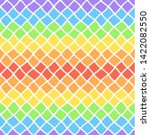rainbow colors geometric... | Shutterstock .eps vector #1422082550