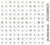 line icon set. collection of...   Shutterstock .eps vector #1422088523