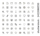line icon set. collection of... | Shutterstock .eps vector #1422088550