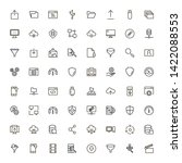 line icon set. collection of... | Shutterstock .eps vector #1422088553
