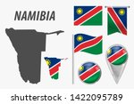 namibia. collection of symbols... | Shutterstock .eps vector #1422095789
