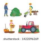 farming people vector  man... | Shutterstock .eps vector #1422096269