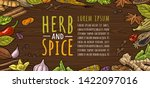 horizontal poster for menu with ...   Shutterstock .eps vector #1422097016