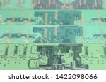 old computer hardware colorful... | Shutterstock . vector #1422098066