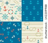 four seamless patterns of... | Shutterstock .eps vector #142209988