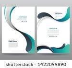 template annual report brochure ... | Shutterstock .eps vector #1422099890