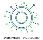 loop arrow line icon. refresh... | Shutterstock .eps vector #1422102380