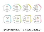 tea mug  americano and cafe... | Shutterstock .eps vector #1422105269