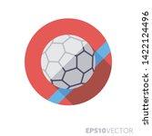 handball ball on field flat... | Shutterstock .eps vector #1422124496