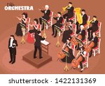 classical music orchestra... | Shutterstock .eps vector #1422131369