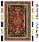 carpet border frame pattern   Shutterstock .eps vector #142213213