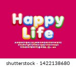 vector bright poster happy life ... | Shutterstock .eps vector #1422138680
