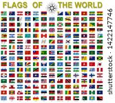 set of flags of world sovereign ... | Shutterstock . vector #1422147746