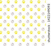 Stock vector vector seamless pattern with cat or dog kitten or puppy footprints can be used for wallpaper 1422149093