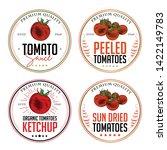 tomato ketchup  sauce  badge... | Shutterstock .eps vector #1422149783