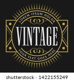 old school vintage badge... | Shutterstock .eps vector #1422155249