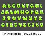 green cartoon fonts. volume... | Shutterstock .eps vector #1422155780