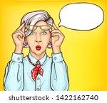 amazed grandmother  shocked... | Shutterstock .eps vector #1422162740