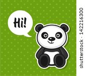 illustration of cute panda | Shutterstock .eps vector #142216300