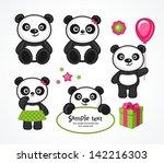 panda cartoon character in... | Shutterstock .eps vector #142216303
