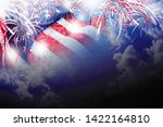 usa 4th of july independence... | Shutterstock . vector #1422164810
