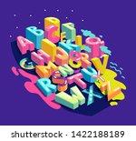 alphabet city letters. vector... | Shutterstock .eps vector #1422188189
