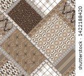 seamless patchwork pattern on... | Shutterstock .eps vector #1422188420