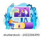 young man working with laptop.... | Shutterstock .eps vector #1422206390