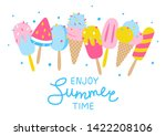 cartoon ice cream border... | Shutterstock .eps vector #1422208106