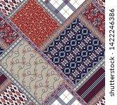seamless patchwork  pattern on... | Shutterstock .eps vector #1422246386