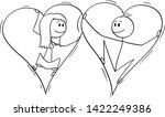 vector cartoon stick figure... | Shutterstock .eps vector #1422249386