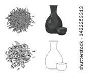 vector illustration of crop and ... | Shutterstock .eps vector #1422253313