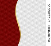 red and white background with... | Shutterstock .eps vector #1422253700