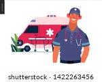 medical insurance template ... | Shutterstock .eps vector #1422263456