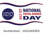 national postal worker day on... | Shutterstock .eps vector #1422264503