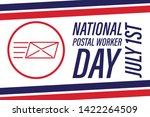 national postal worker day on... | Shutterstock .eps vector #1422264509