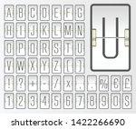 light airport mechanical flip... | Shutterstock .eps vector #1422266690