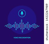 voice recognition system... | Shutterstock .eps vector #1422267989