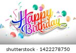 Happy Birthday With Colorful...