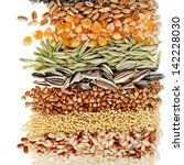 cereal grains and seeds   rye ... | Shutterstock . vector #142228030