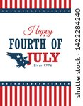 vector fourth of july vertical... | Shutterstock .eps vector #1422284240