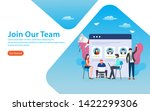 join our team  website template ... | Shutterstock .eps vector #1422299306