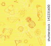beach seamless pattern with... | Shutterstock .eps vector #142231600
