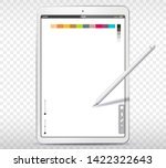 drawing with tablet pc and pen... | Shutterstock .eps vector #1422322643