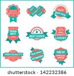 top pr marketing labels  set 8  | Shutterstock .eps vector #142232386