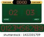 scoreboard vector score board... | Shutterstock .eps vector #1422331709